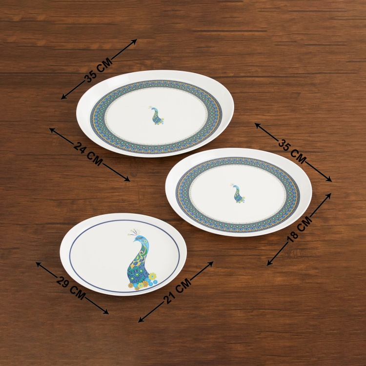 Victor Printed Melamine Trays - Set of 3