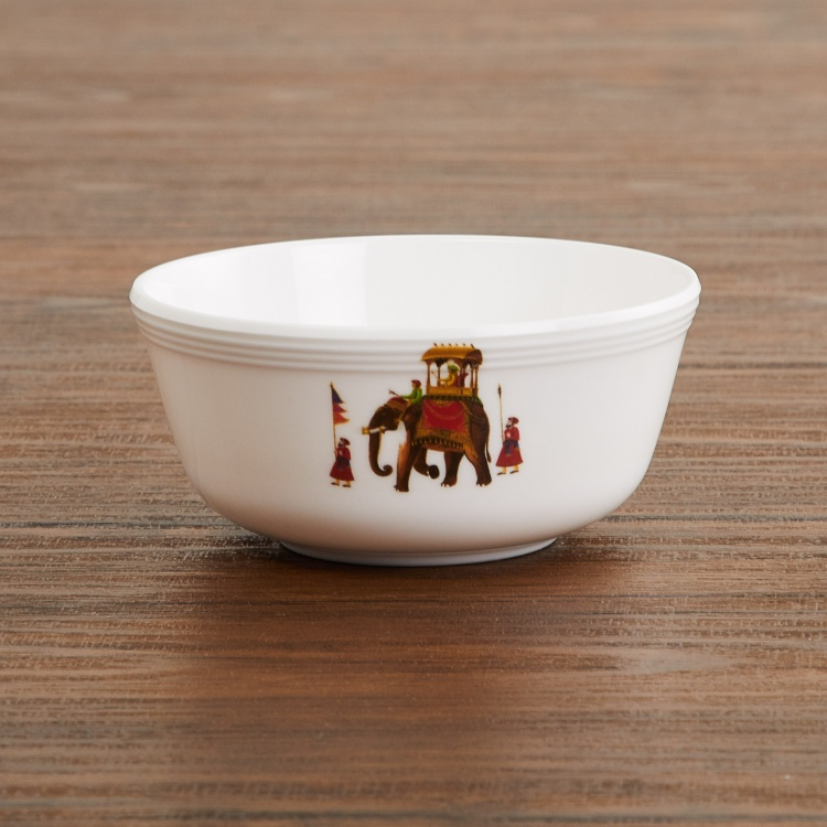 Mandarin Printed Melamine Curry Bowl