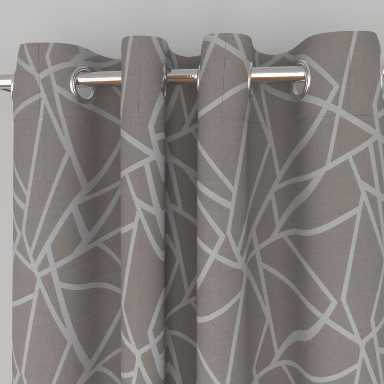 Seirra Fancy Contemporary Semi-Blackout Door Curtain-Set Of 2 Pcs.