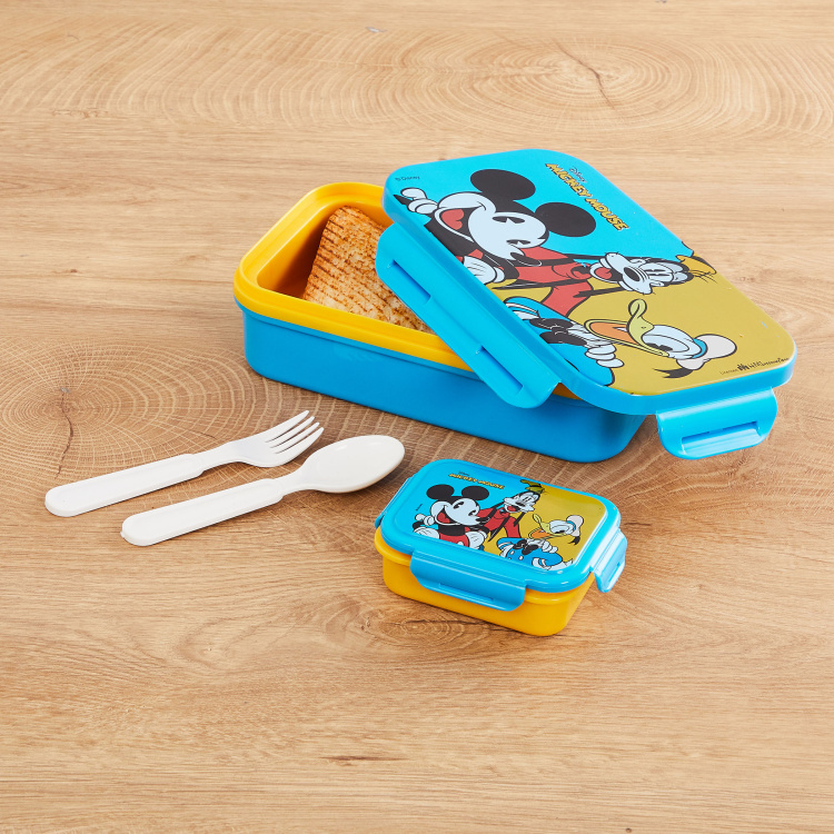 Disney Micky Print Lunch Box- Set of 4 pcs.