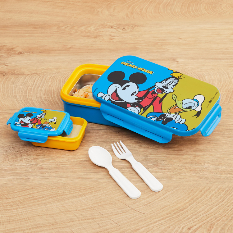 Disney Mickey Mouse Print Round Lunch Box
