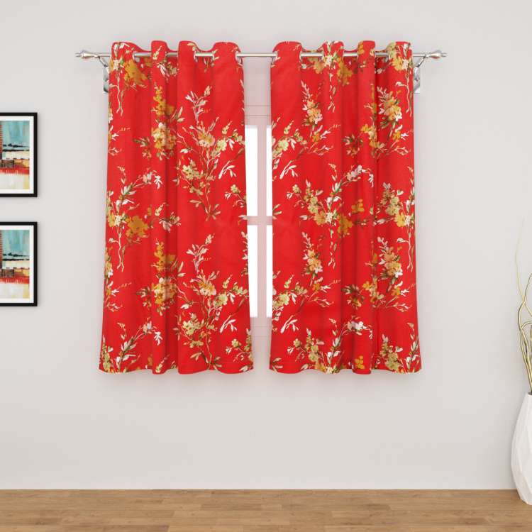 Harold Printed Semi-Blackout Window Curtain Pair - 110 x 160 cm