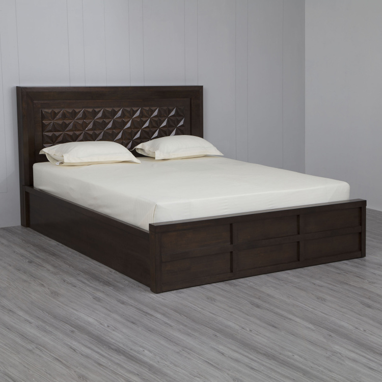Rio - Eva Queen Size Hydraulic Bed with Storage - 150 x 195 cm