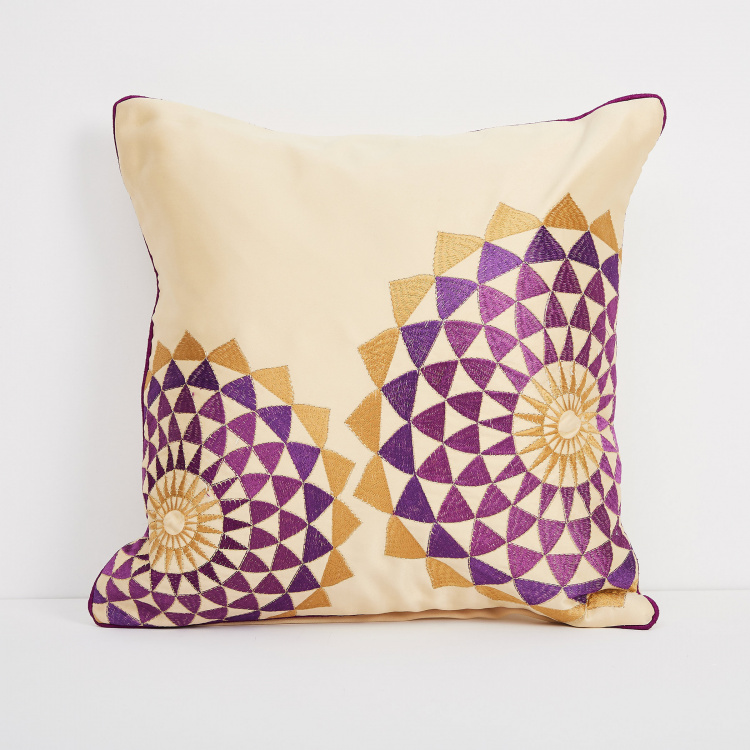 Celebration Embroidered Cushion Covers - Set of 2 - 40 x 40 cm