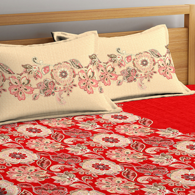 PORTICO Vienna Printed 3-Piece Double Bedsheet Set