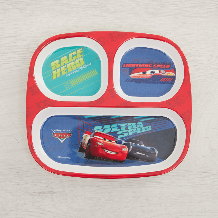 Disney Cars Print Partition Plate