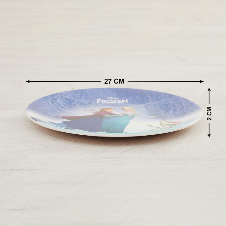 Disney Frozen Print Urmi Dinner Plate