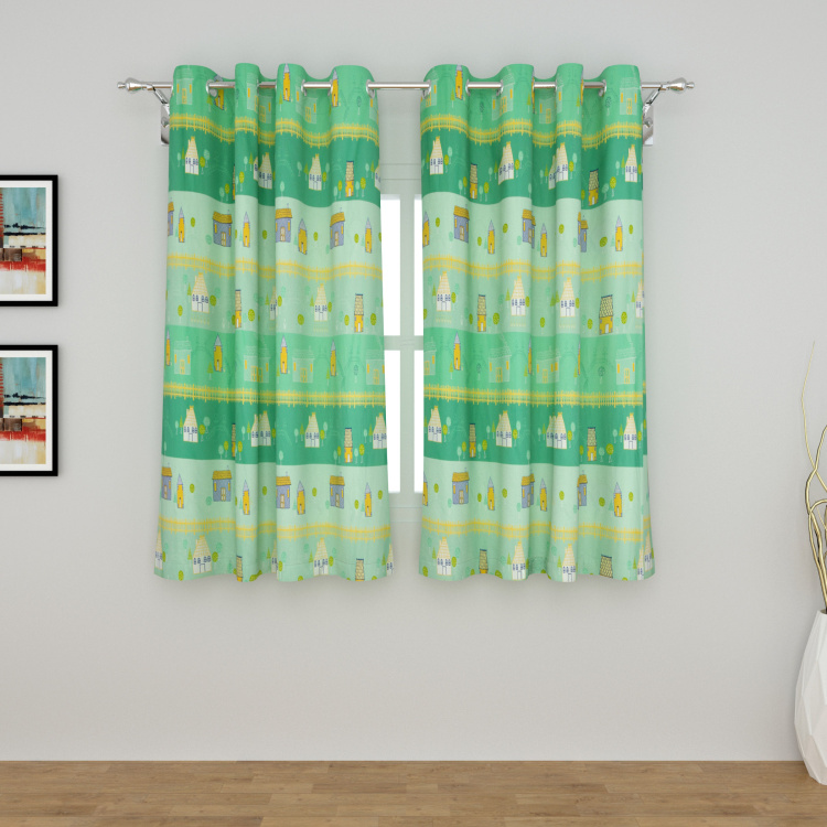 Cottage Printed Window Curtain - 135 x 160 cm