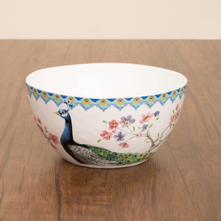 Moksha-Peacock Print Curry Bowl