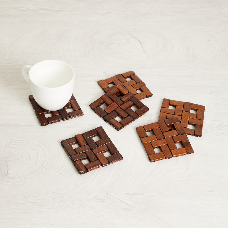 Bamboo Anchor Coasters - Set of 6