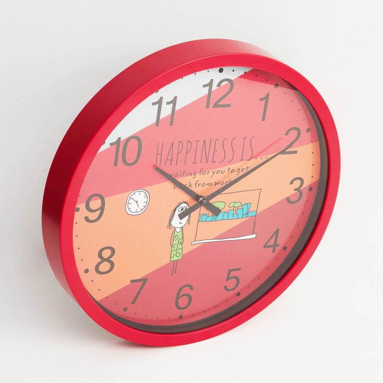 Happiness Coming Back From Work Print Wall Clock