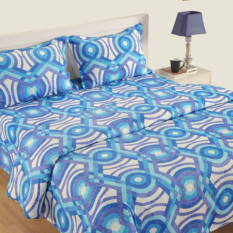SWAYAM Abstract Cotton Double Bed Comforter - 228 x 254 cm