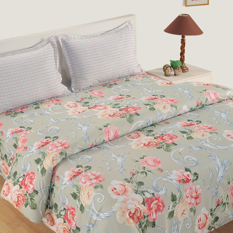 SWAYAM Floral Cotton Double Bed Comforter - 228 x 254 cm