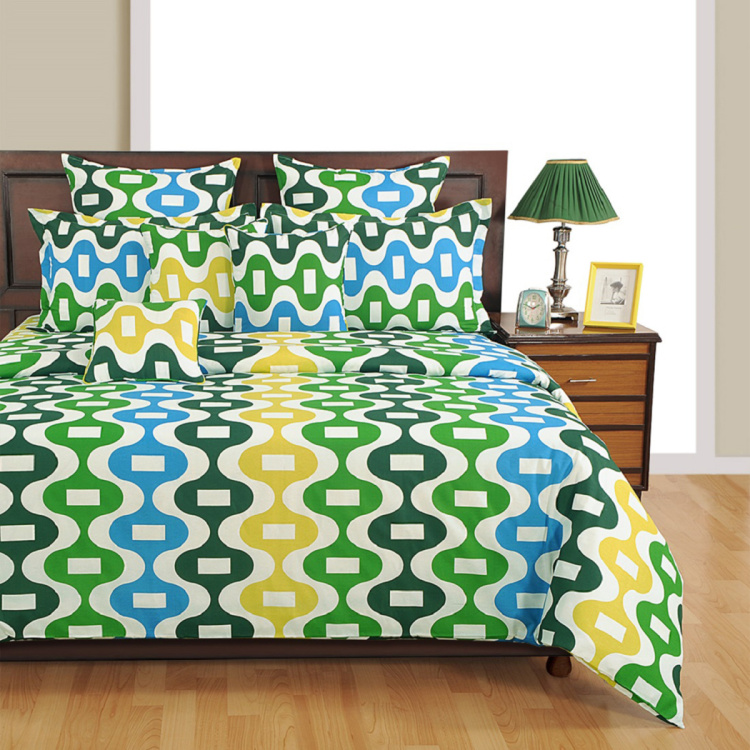 SWAYAM Geometric Cotton Single Bed Comforters - 152 x 228 cm