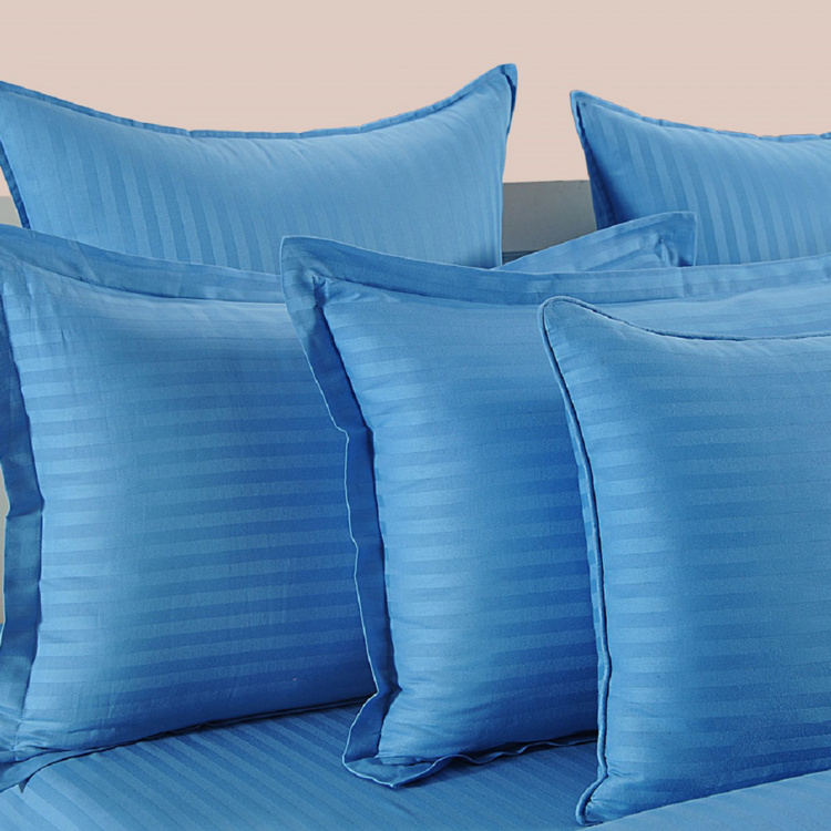 SWAYAM Solid Cotton Double Bedsheet-Set Of 3 Pcs.