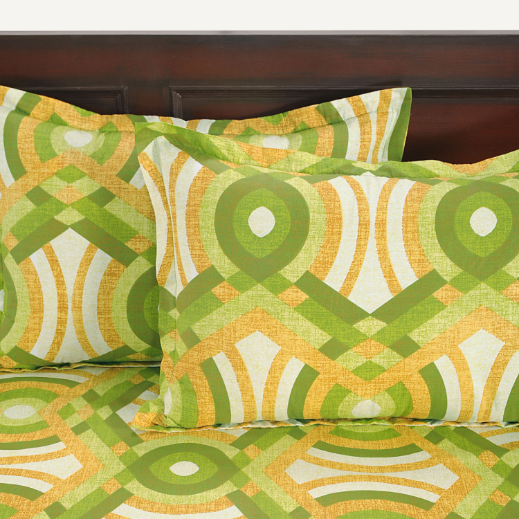 SWAYAM Abstract Cotton Single Bedsheet-Set Of 2 Pcs.