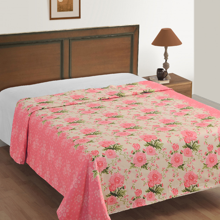 SWAYAM Floral Cotton Double Bed Dohar - 228 x 254 cm