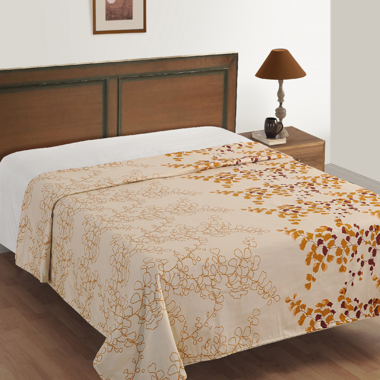 SWAYAM Floral Cotton Single Bed Dohar - 152 x 228 cm