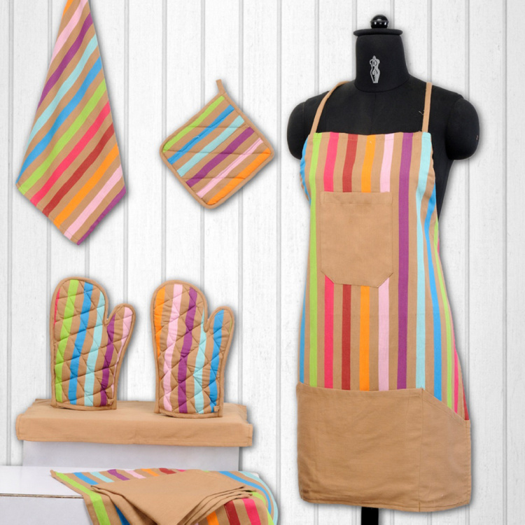 SWAYAM Striped 8-Piece Kitchen Set