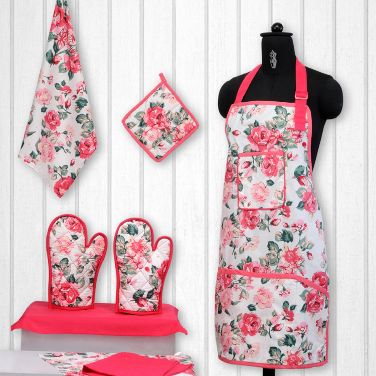 SWAYAM Floral Print 8-Piece Kitchen Set
