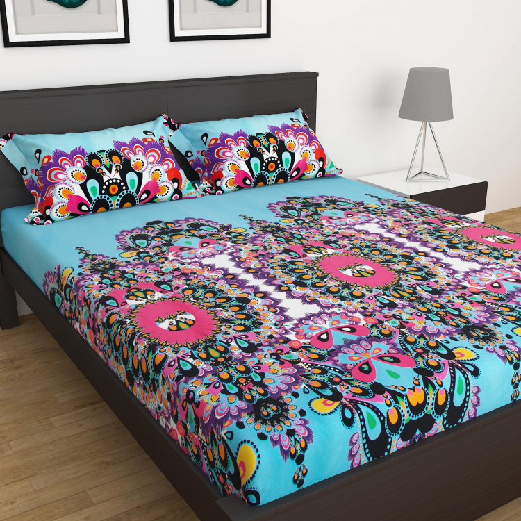 Designer Homes Set of 3 Printed King Size Bedsheets