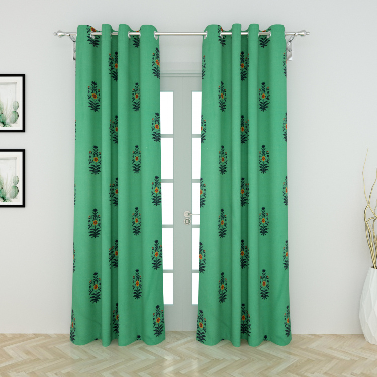 Designer Homes Printed Window Curtain Pair - 135 x 160 cm