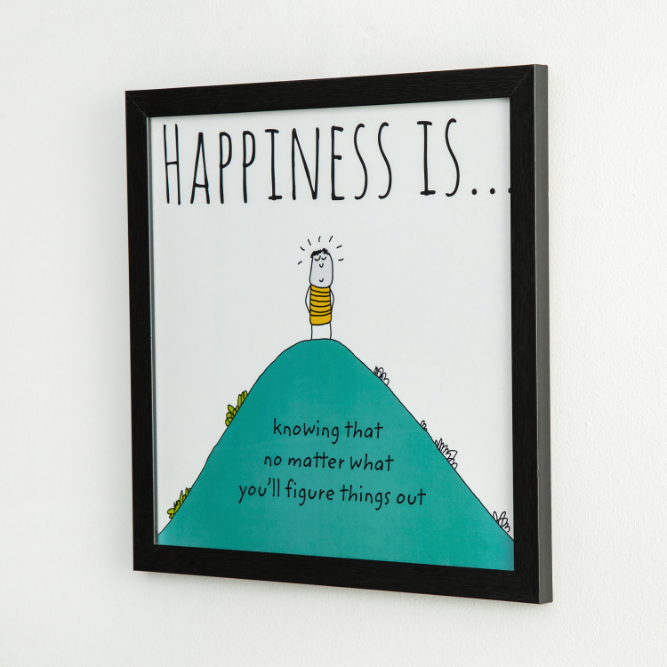 Happiness Finding Solution- Photo Frame - 35 X 35 cm
