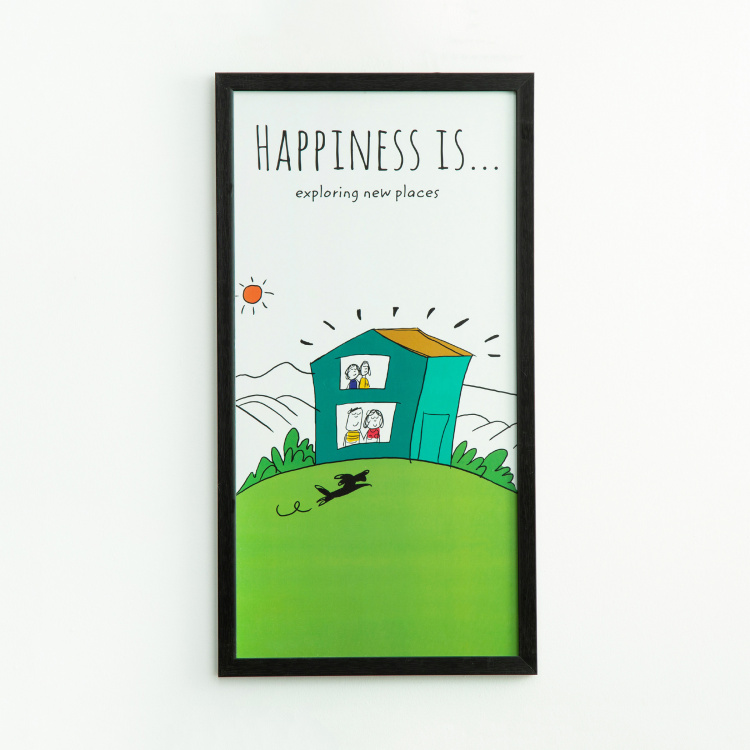 Happiness Exploring New Places - Photo Frame - 35 X 65 cm
