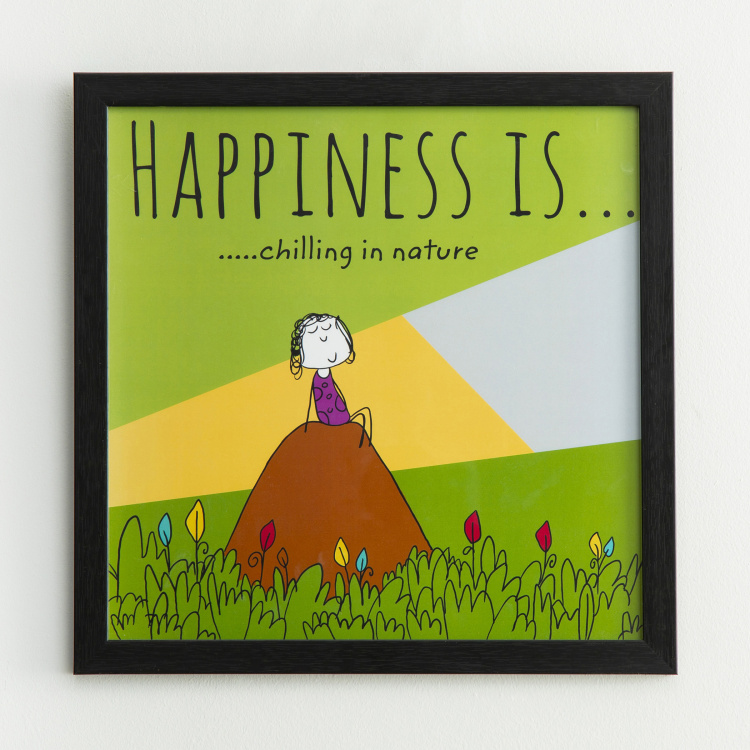 Happiness Chilling In Nature - Photo Frame - 35 X 35 cm