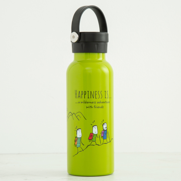 Melina-Eston Printed Stainless Steel Water Bottle - 500ml
