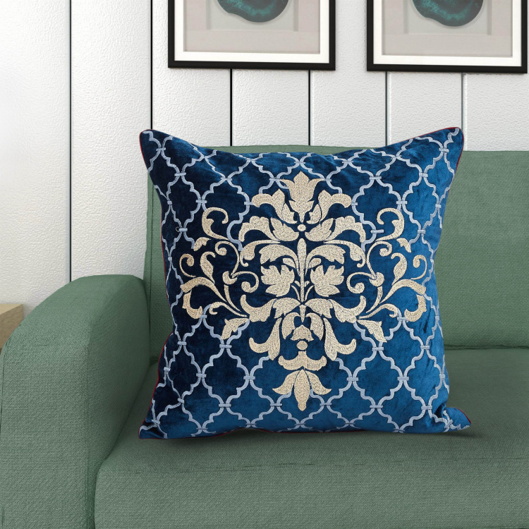 Designer Homes Embroidered Cushion Cover - 40 x 40 cm