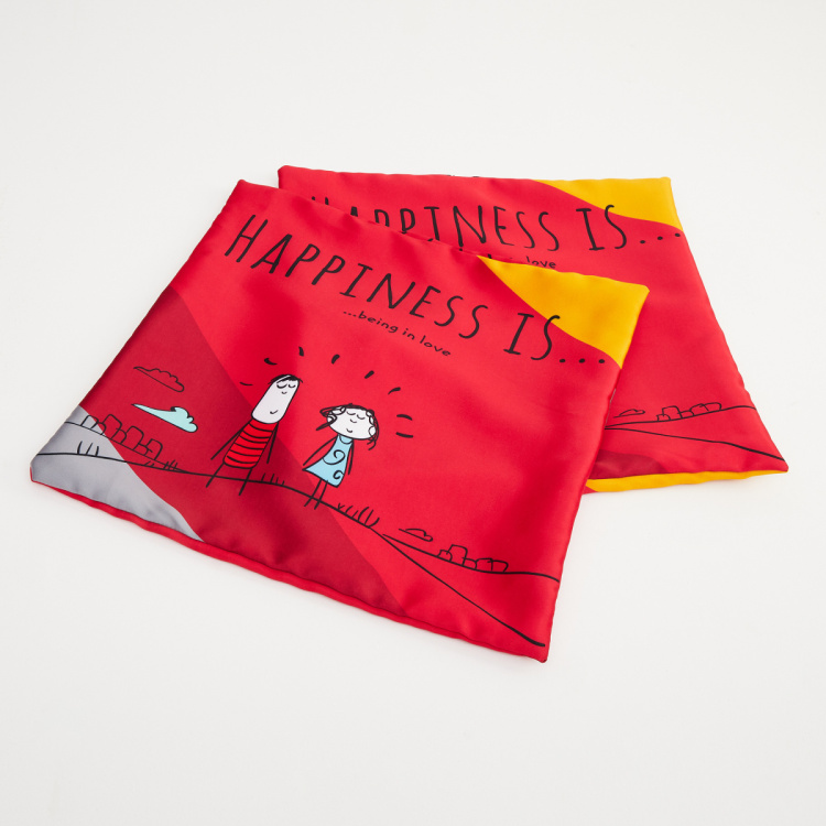 Happiness Cushion Covers - Set of 2 - 40 x 40 cm