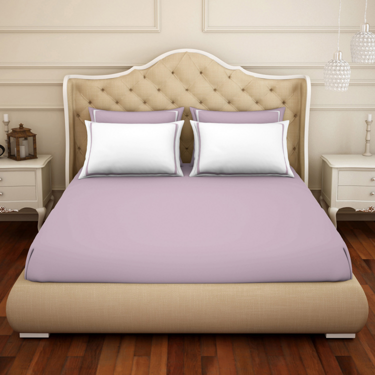 SPACES Hygro Lilac 3-Pc. Doubel Bedsheet Set - 274 x 274 cm