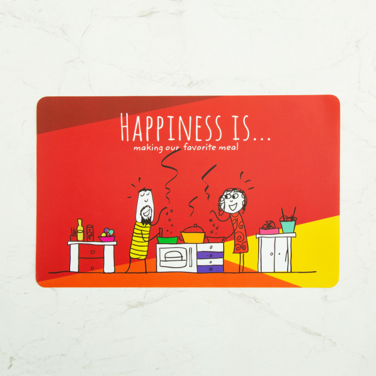 Happiness Print Placemat - 28 X 43 CM