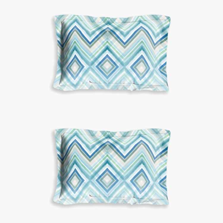 D'DECOR The Prime Chevron Print 3-Piece Queen-Size Bedsheet Set - 274 x 229 cm