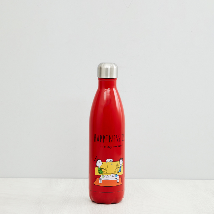 Melina Eston Printed Steel Beverage Bottle - 750ml