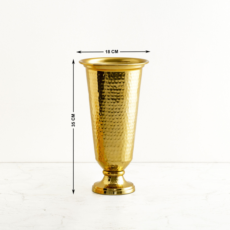 Moksha Embossed Hammered Vase with Vase