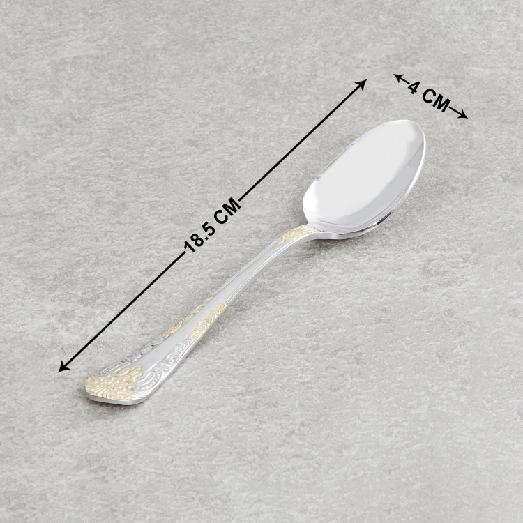 FNS Odyssey Embossed Dessert Spoons - Set of 6