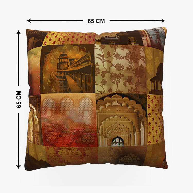 Aurora Printed Double-Sided Cushion Covers - Set of 2- 65 x 65 cm