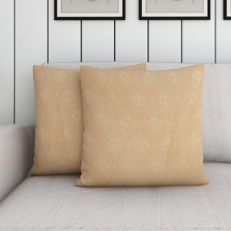 Seirra Fancy Jacquard Patterned Cushion Covers - Set of 2 - 40 x 40 cm