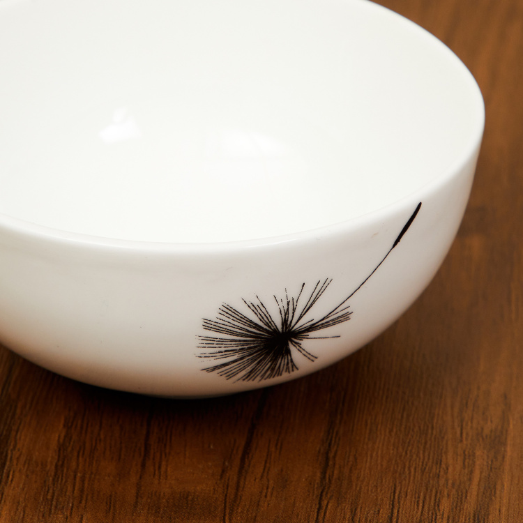 Lucas-Windflower Floral Print Curry Bowl