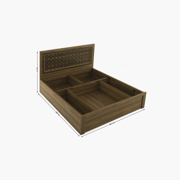Quadro Craft King Size Bed with Hydraulic Storage - 180 x 195 cm