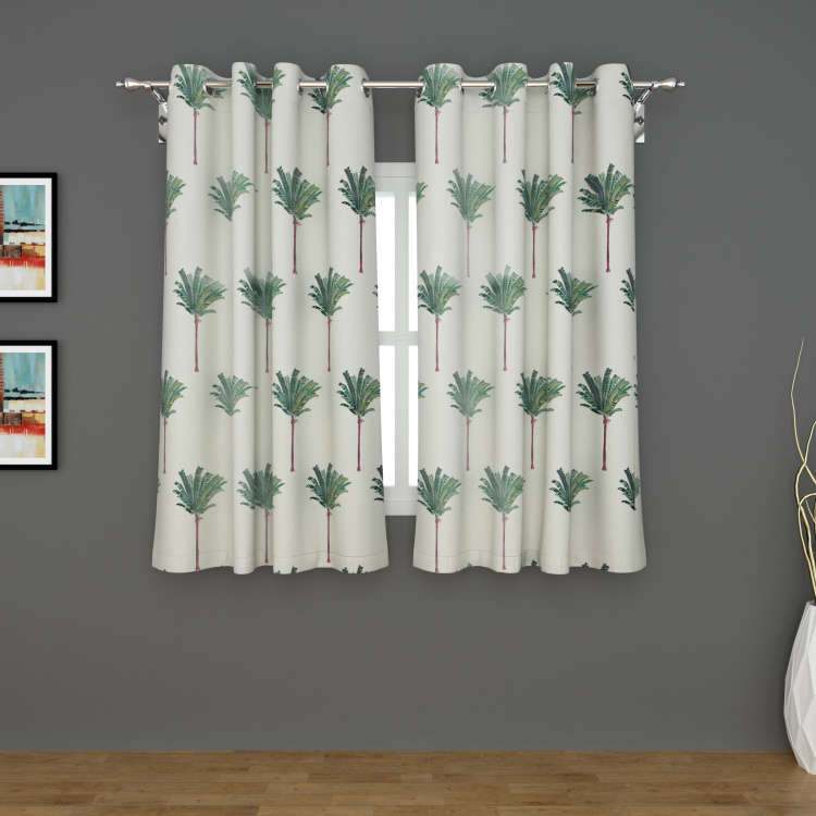 Rhythm Printed Blackout Window Curtain Pair - 120 x 160 cm