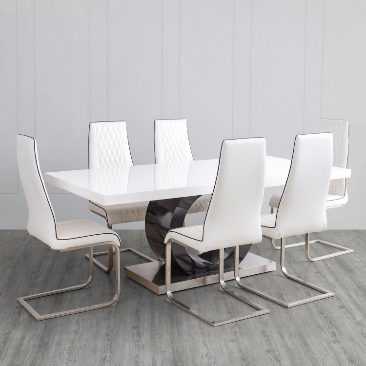 Bentley 6-Seater Dining Table Set with 6 Chairs