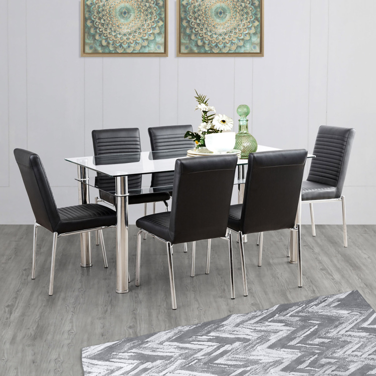 Floris 6-Seater Dining Table Set with Chairs