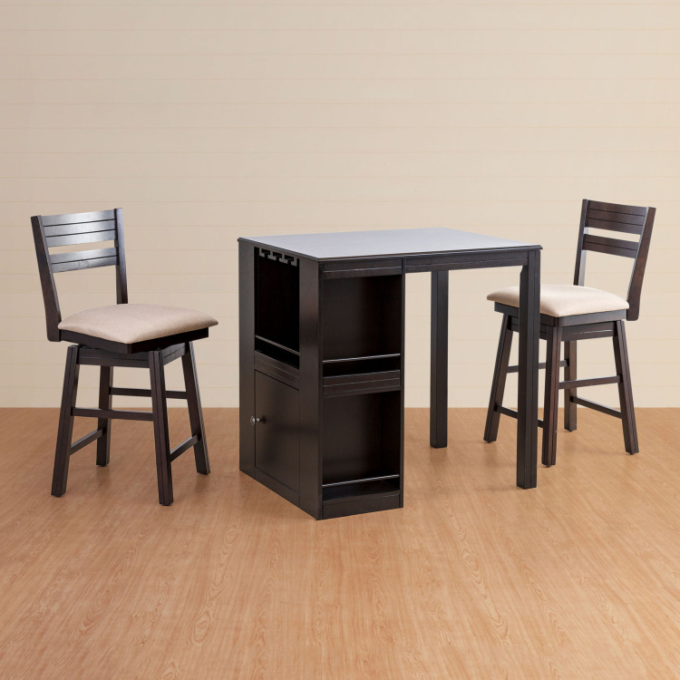 Montoya 2-Seater High Dining Table Set with 2 Swivel Chairs
