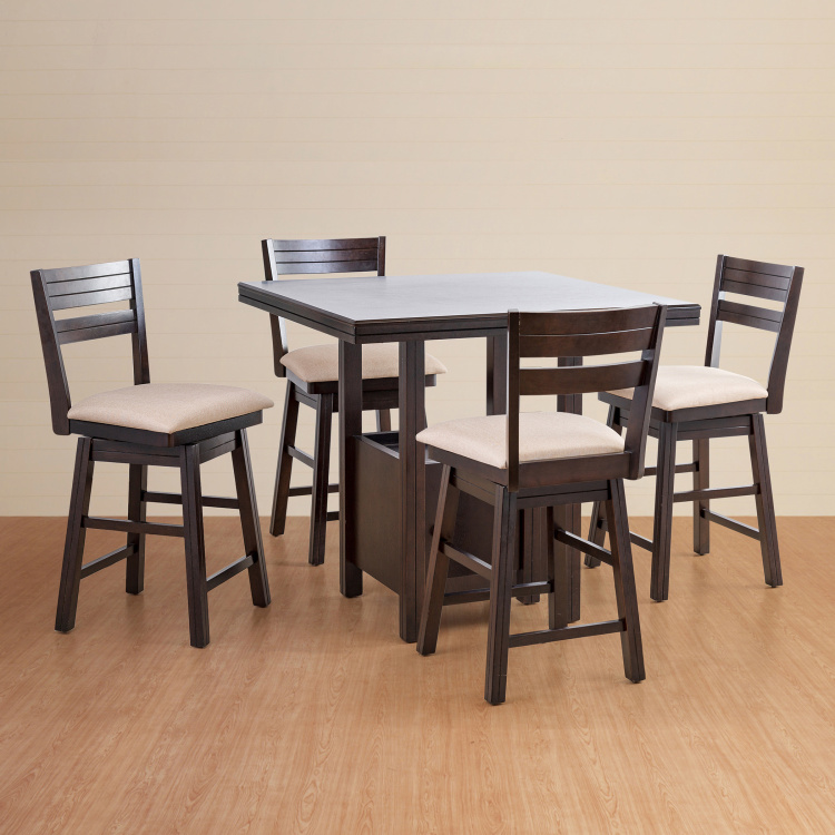Montoya 4-Seater High Dining Table Set with 4 Chairs