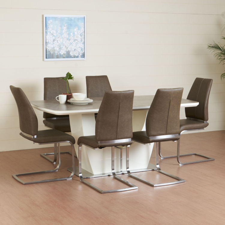 Napster 6-Seater Dining Table Set with 6 Chairs