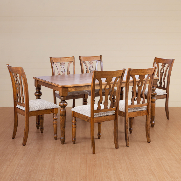 Tagetes 6 Seater Dining Table Set with Chairs