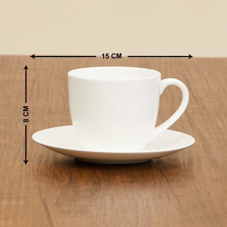 Milkway Luke Solid 2-Pc. Cup and Saucer Set